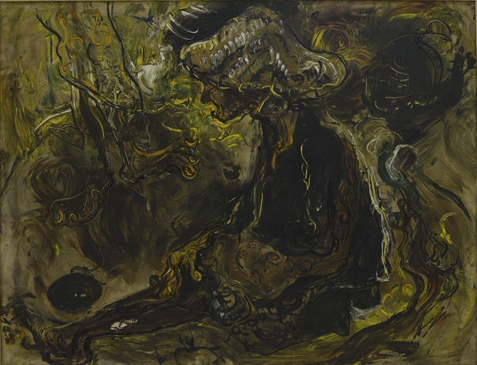 Painting The Beggar Affandi 1974 National Gallery Of